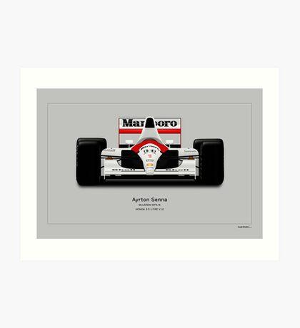 McLaren MP4/6A - Ayrton Senna Front view Art print Art Print