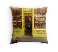 Shopfront La Presse Throw Pillow