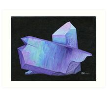 Purple crystal angel aura quartz geode Art Print