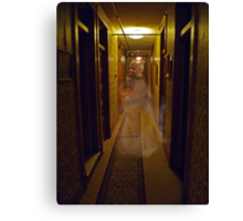 Ghost in the Hallway of a Haunted Hotel  Canvas Print