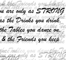 Friends, Drinks and Tables Sticker