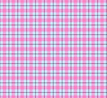 Pink and Blue Tartan Plaid by Greenbaby