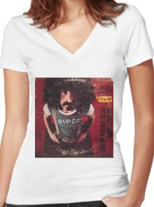 Zappa Lumpy Gravy Women's Fitted V-Neck T-Shirt