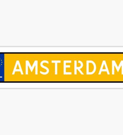 Amsterdam Kenteken Sticker