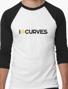 I love curves (3) Men's Baseball ¾ T-Shirt