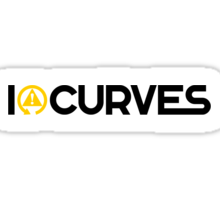 I love curves (3) Sticker