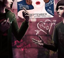 Friends and Alibis Sticker