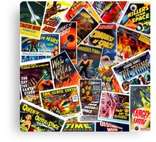 Classic 1950s Science Fiction Poster Collage Canvas Print