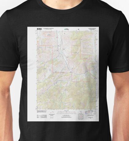 USGS TOPO Map California CA Callahan 20120217 TM geo Unisex T-Shirt