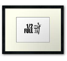 1/2 Full Framed Print