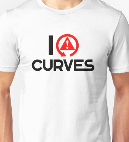 I love curves (5) Unisex T-Shirt
