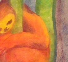 'This is my Happy Tree' Tree-hugging Sloth Sticker