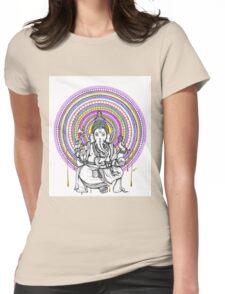 Elephant Shiva Womens Fitted T-Shirt