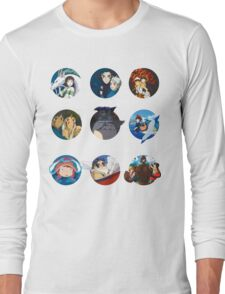 Studio ghibli movies (no filter) Long Sleeve T-Shirt