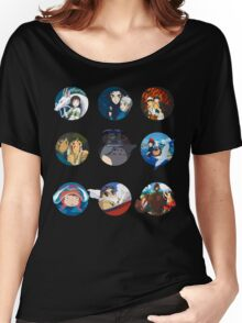 Studio ghibli movies (no filter) Women's Relaxed Fit T-Shirt