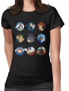 Studio ghibli movies (no filter) Womens Fitted T-Shirt