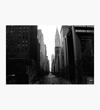 Looking Down 42nd St - B&W Photographic Print