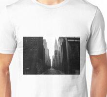 Looking Down 42nd St - B&W Unisex T-Shirt