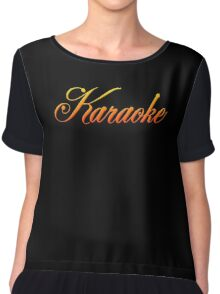 Vintage Colorful Karaoke Chiffon Top