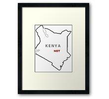 Kenya Not Framed Print
