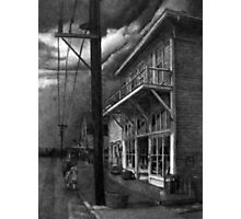 Fishing Village, Stormy Day. Photographic Print