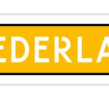 Nederland Kenteken Sticker