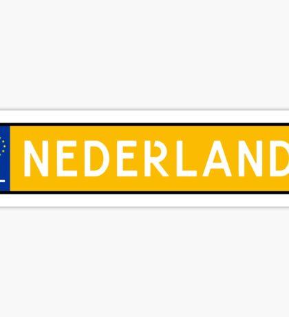 Nederland Kenteken Sticker