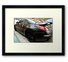 Nissan 350Z Bedliner PaintJob Framed Print