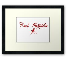 Red Mosquito Framed Print