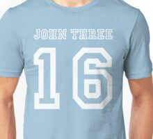 Men's John 3:16 T-Shirt, Three 16, 316 Colors Sports Jersey Style Baby Blue Unisex T-Shirt