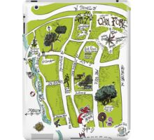 Oak Forest Houston Neighborhood Souvenir Map iPad Case/Skin