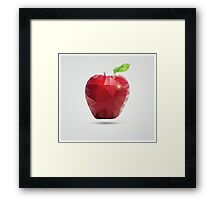 Geometric polygonal fruit, triangles, apple Framed Print