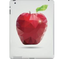 Geometric polygonal fruit, triangles, apple iPad Case/Skin