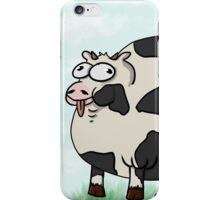 Fat/Sexy Cow with Background iPhone Case/Skin