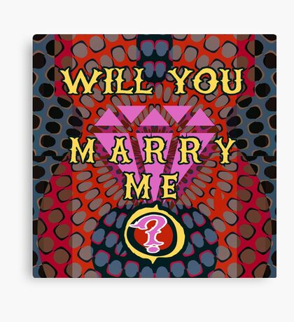 Perfect Marriage Proposal Canvas Print