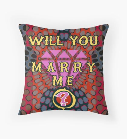 Perfect Marriage Proposal Throw Pillow
