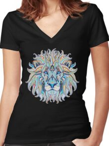 Ethnic Lion Women's Fitted V-Neck T-Shirt