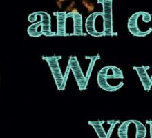 Yellowcard lyrics Sticker