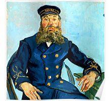 Portrait of the Postman Joseph Roulin Poster