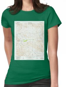 USGS TOPO Map California CA Carrizo Mountain 297042 1959 62500 geo Womens Fitted T-Shirt