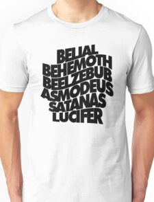 YEAR ZERO CHORUS - solid black Unisex T-Shirt