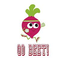 Go Beet Cute Retro Running Beet by Eggtooth