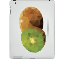 Geometric polygonal fruit, triangles, kiwi iPad Case/Skin