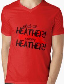 Shut up Heather! (Red bow) Mens V-Neck T-Shirt