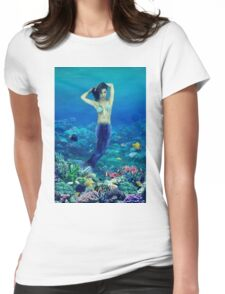 THE MERMAID RISING by Benjamin Joseph Womens Fitted T-Shirt