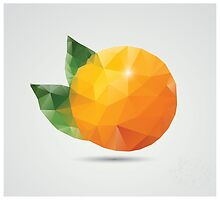 Geometric polygonal fruit, triangles, orange by BlueLela