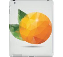 Geometric polygonal fruit, triangles, orange iPad Case/Skin