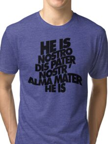 HE IS - solid black Tri-blend T-Shirt