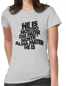 HE IS - solid black Womens Fitted T-Shirt