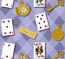 Alice In Wonderland Key Watch Cards In  by jaymelafleur
